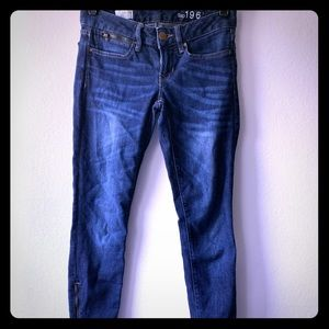 GAP 1969 Always Skinny Jeans with Ankle Zippers